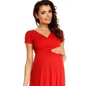 NWT Happy Mama Maternity Stretchy Jersey Dress